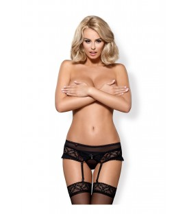 OB 837-GAR-1 garter belt and thong