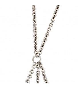 Collier Carrier 925 Sterling Silber für bis zu 3 Anhänger Beads 65 cm Kette - Bild 1