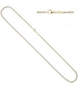 Ankerkette 585 Gold Gelbgold Weißgold bicolor 45 cm Kette Halskette Goldkette - Bild 1