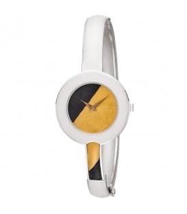 ARS Damen Armbanduhr Spangenuhr aus 925 Sterling Silber mit 750 Gold Gelbgold - Bild 1
