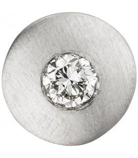 Anhänger rund 950 Platin matt 1 Diamant Brillant 0