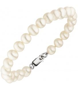 Armband mit Süßwasser Perlen und 925 Sterling Silber 19 cm Perlenarmband - Bild 1