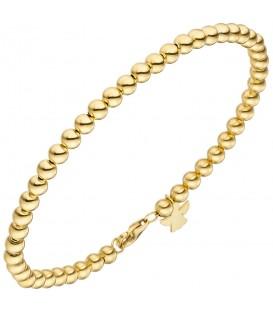 Armband mit Engel 585 Gold Gelbgold 19 cm Goldarmband Schutzengel - Bild 1