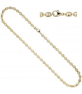 Halskette Kaffeebohnen Kette 585 Gold Gelbgold 50 cm Goldkette - Bild 1