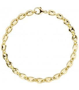 Armband Kaffeebohne 585 Gold Gelbgold 21 cm Goldarmband Kaffeebohnen-Armband - Bild 1