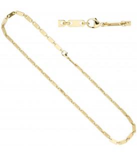 Halskette Kette 585 Gold Gelbgold 50 cm Goldkette Karabiner - Bild 1