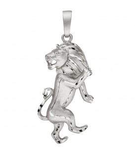 Anhänger Sternzeichen Löwe 925 Sterling Silber teil matt Sternzeichenanhänger - Bild 1