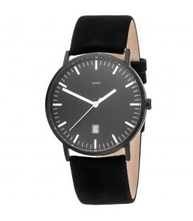 JOBO Herren Armbanduhr Quarz Analog Titan Lederband schwarz Datum Herrenuhr - Bild 1