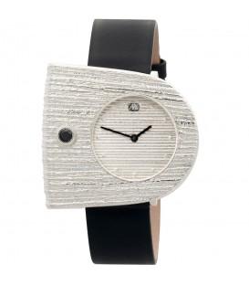 ARS Damen-Armbanduhr Quarz Analog 925 Sterling Silber Lederband Mineralglas - Bild 1