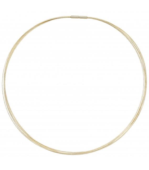 Großbild Halsreif 7-reihig 585 Gold Gelbgold 45 cm Goldkette Goldreif - Bild 2