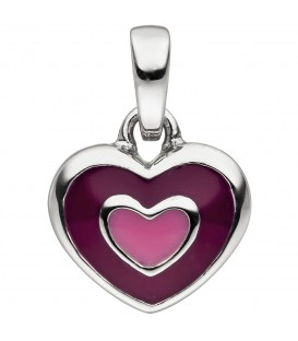 Kinder Anhänger Herz 925 Sterling Silber Herzanhänger Kinderanhänger - Bild 1