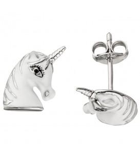 Kinder Ohrstecker Einhorn 925 Sterling Silber Ohrringe Kinderohrringe - Bild 1