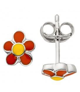 Kinder Ohrstecker Blume 925 Sterling Silber Ohrringe Kinderohrringe - Bild 1