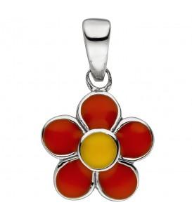 Kinder Anhänger Blume 925 Sterling Silber Silberanhänger Kinderanhänger - Bild 1