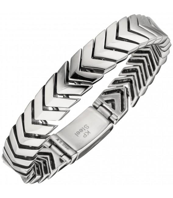 Herren Armband Edelstahl 21 cm - Bild 1 Großbild