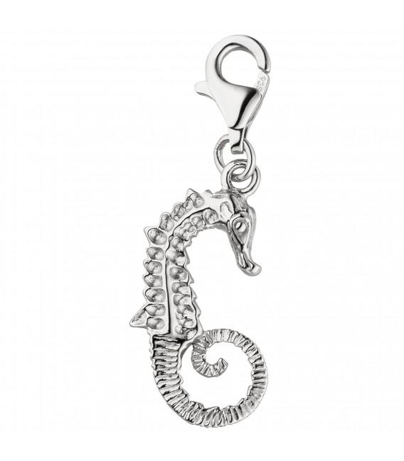 Einhänger Charm Seepferdchen 925 Sterling Silber Silbercharm Seepferd - Bild 1 Großbild