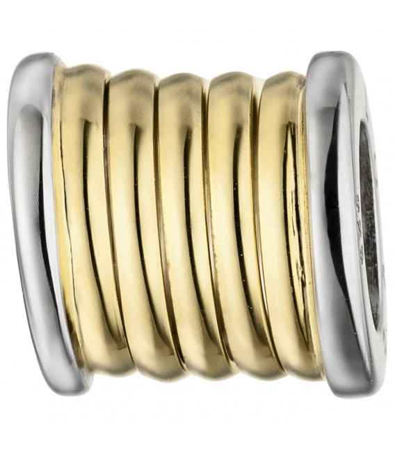 Anhänger LOVE 925 Sterling Silber bicolor vergoldet Silberanhänger - Bild 1