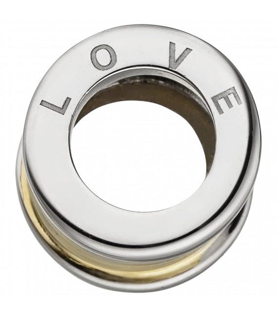 Anhänger LOVE 925 Sterling Silber bicolor vergoldet Silberanhänger - Bild 2
