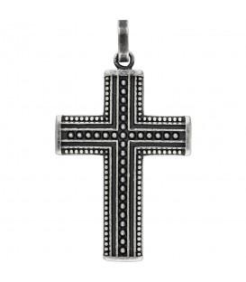 Anhänger Kreuz Edelstahl geschwärzt Kreuzanhänger Edelstahlkreuz schwarz - Bild 1