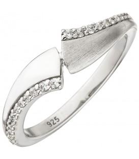 Damen Ring 925 Sterling Silber 24 Zirkonia Silberring - Bild 1