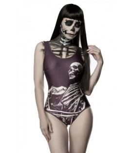Body mit Skelett schwarz/weiß - AT13201 - Bild 1