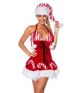 Weihnachts-Set mit Mütze rot/weiß - AT14356 - Bild 1