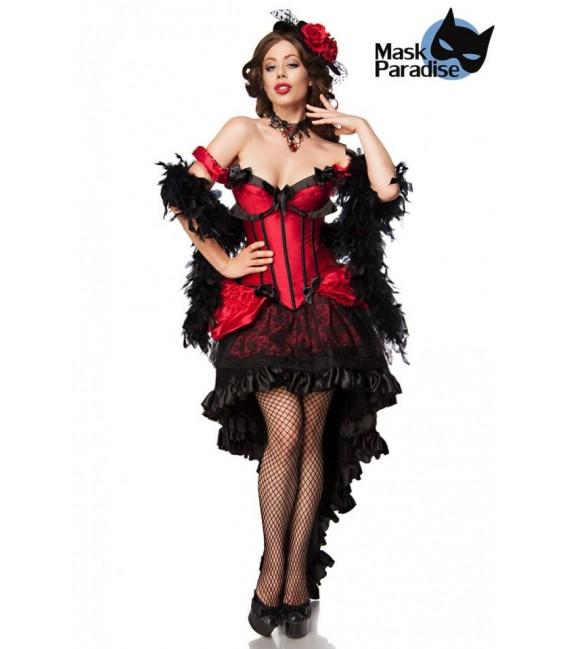 Burlesque Saloon Girl schwarz/rot - AT80118 - Bild 1