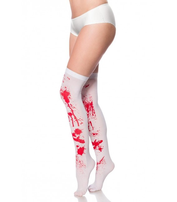 Blut-Stockings weiß/rot - AT14374 - Bild 2
