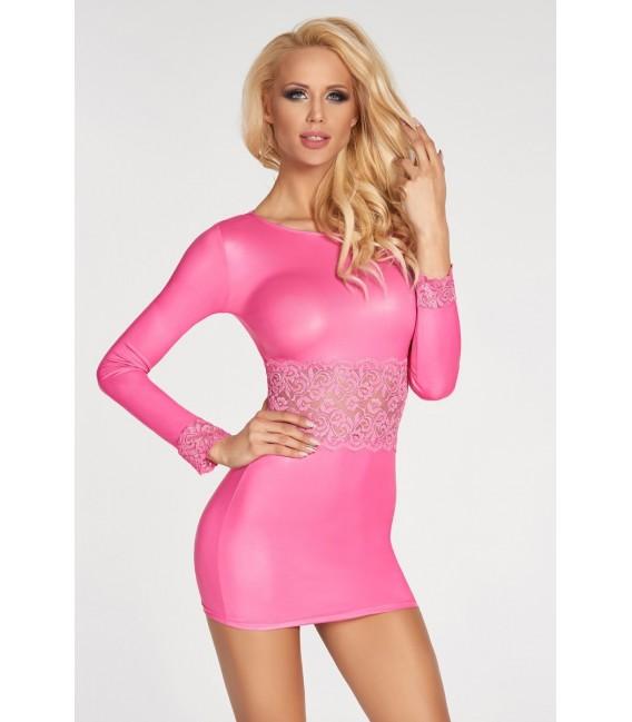 pinkes Wetlook-Kleid Pico von 7-Heaven Bild 1