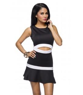 Kleid schwarz/weiß - AT14222