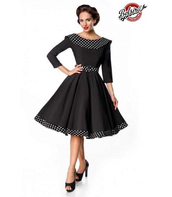 Belsira Premium Swing-Kleid schwarz/weiß - AT50123 Großbild