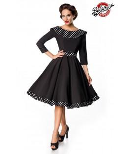 Belsira Premium Swing-Kleid schwarz/weiß - AT50123