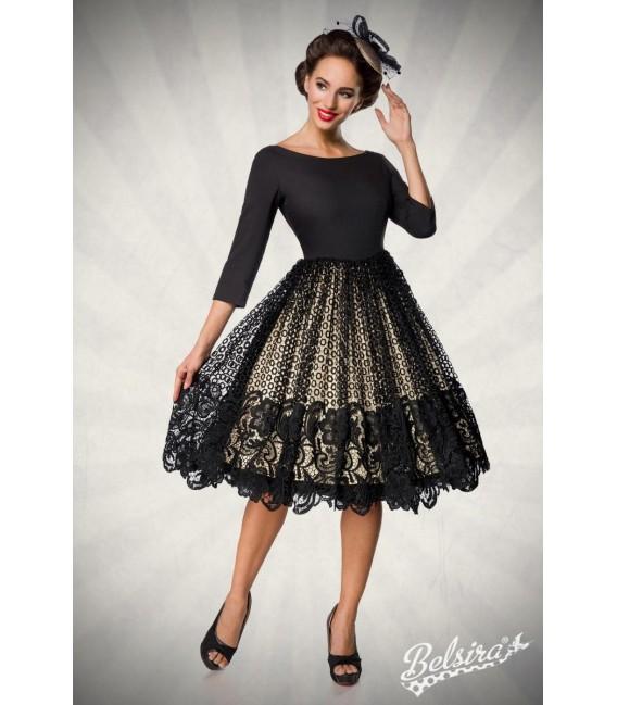 Großbild Premium Spitzen-Swingkleid schwarz - AT50147