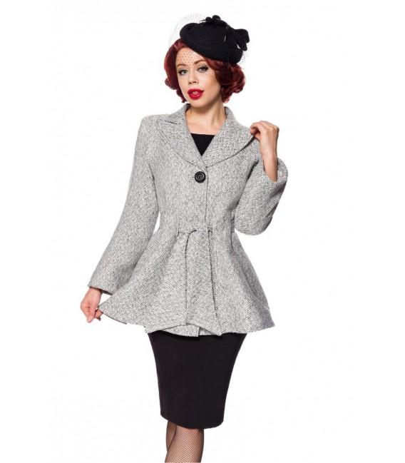 Belsira Premium Blazer-Jacke mit Gürtel schwarz/weiß - AT50141 - Bild 2 Großbild