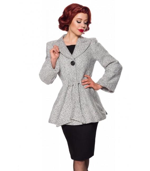 Belsira Premium Blazer-Jacke mit Gürtel schwarz/weiß - AT50141 - Bild 3 Großbild