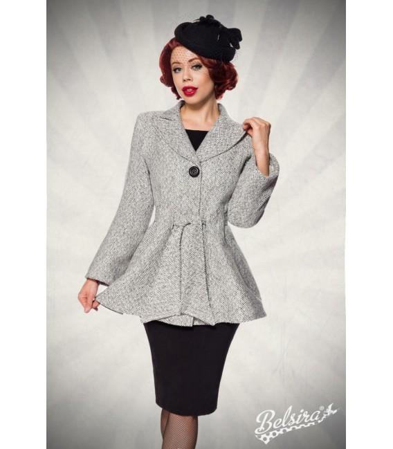 Belsira Premium Blazer-Jacke mit Gürtel schwarz/weiß - AT50141 - Bild 7 Großbild