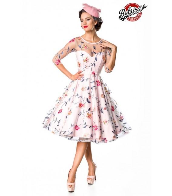 Retro Blumenkleid rosa - AT50174 - Bild 1