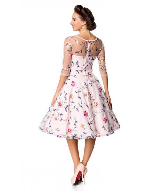 Retro Blumenkleid rosa - AT50174 - Bild 3