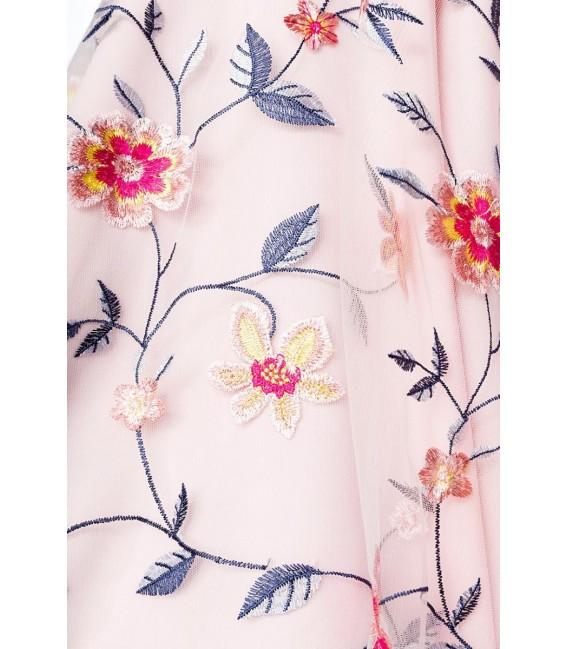 Retro Blumenkleid rosa - AT50174 - Bild 4