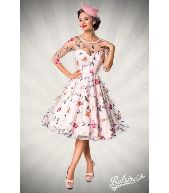 Retro Blumenkleid rosa - AT50174 - Bild 6