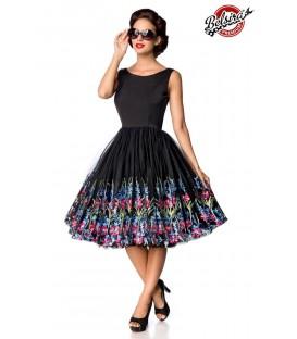 Retro Blumenkleid schwarz - AT50175 - Bild 1