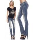 Jeans mit Strasssteinen blau - AT13512