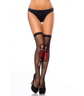 Netz-Stockings schwarz - AT13871 - Bild 1