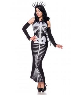 Skelett Meerjungfrau schwarz/grau/weiß - AT15238 - Bild 1