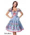 Romantisches Dirndl inkl. Spitzenbluse blau/rosa/weiß - AT70050