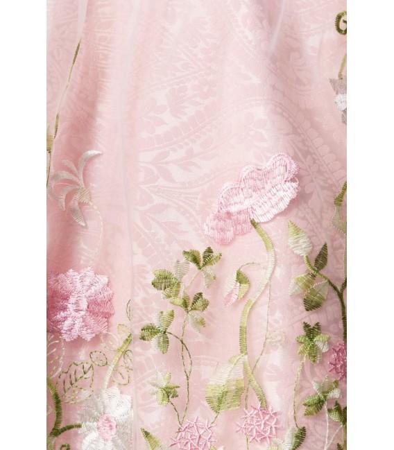 Großbild Mini-Brokat-Dirndl inkl Spitzenbluse rosa - AT70051 - Bild 5