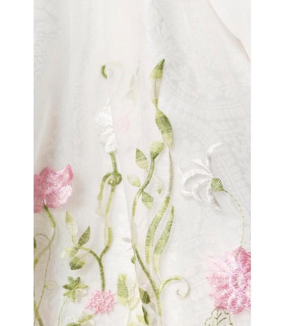 Großbild Mini-Brokat-Dirndl inkl Spitzenbluse weiß - AT70051 - Bild 5