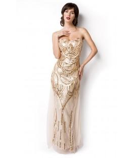 Abendkleid beige/gold - AT14919 - Bild 1