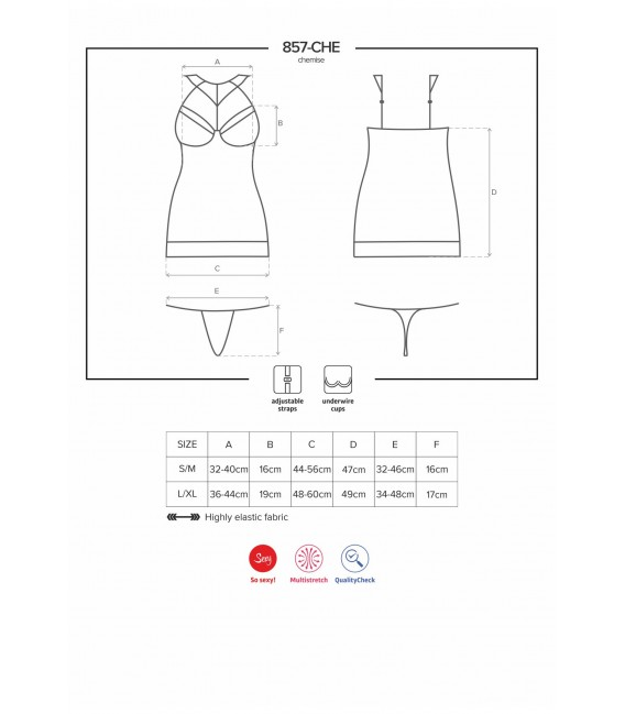 OB 857-CHE-1 chemise & thong - Bild 7