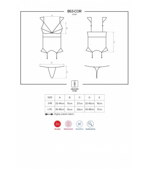 Großbild OB 863-COR-3 corset & thong - Bild 7